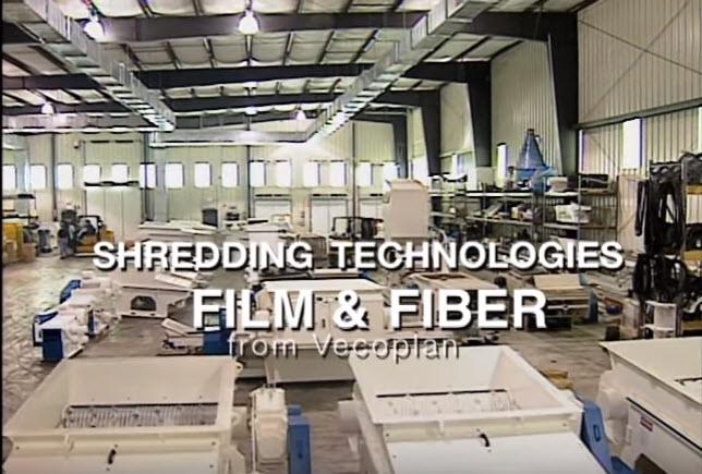 Plastic Film & Fiber Shredder Processing