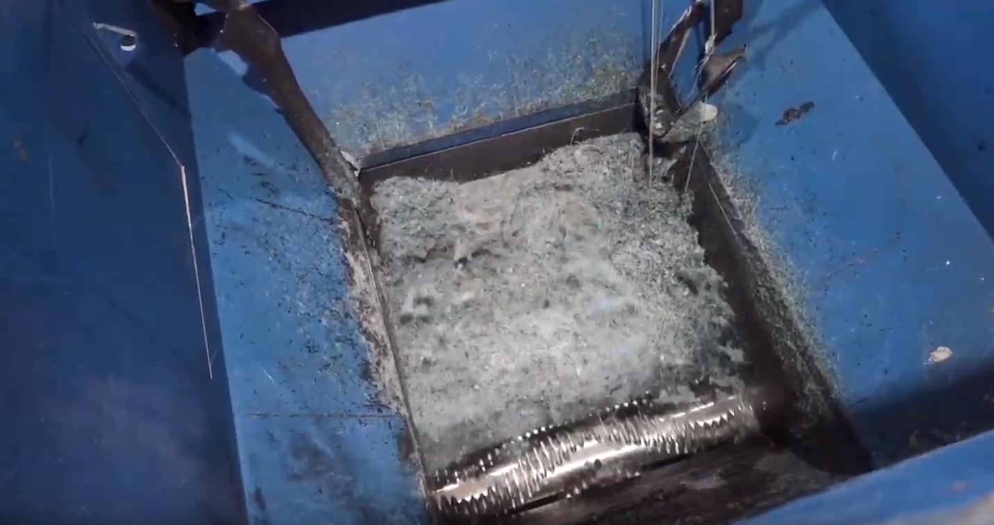 Shredding of Nylon, PLA and PET fiber with Vecoplan Shredder