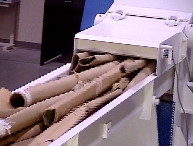 Horizontal Paper Core Shredder