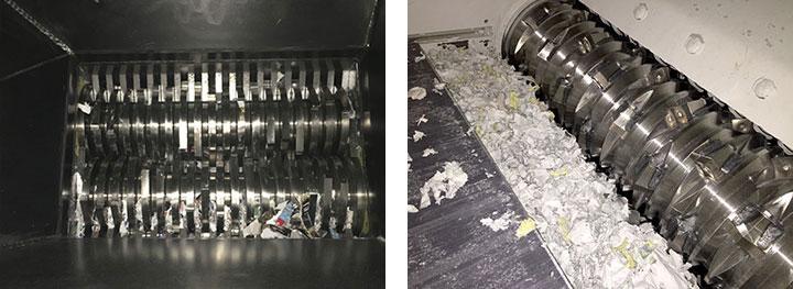 Shred Truck Shredder Interior