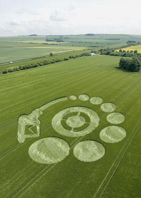 Crop circle of cellulosic ethanol